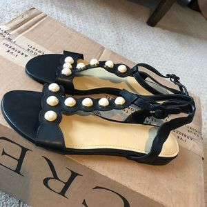 Brand new Marc Fisher embellished pearl sandals
